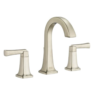 Townsend High Arc Bathroom Faucet Double Handle with Drain Assembly Finish: Satin Nickel