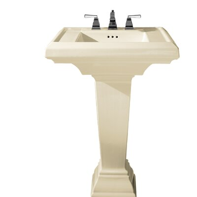 Town Square 27 Pedestal Bathroom Sink with Overflow