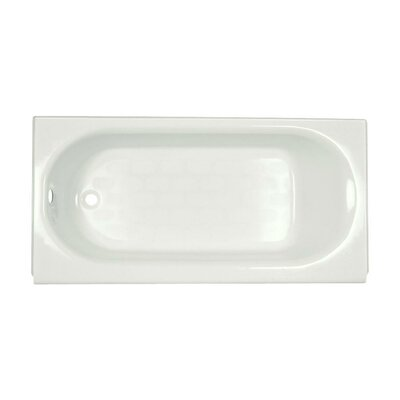 Princeton 60 x 34 Above-Floor Soaking Bathtub with Luxury Ledge and Integral Overflow Color: White, Drain Location: Left