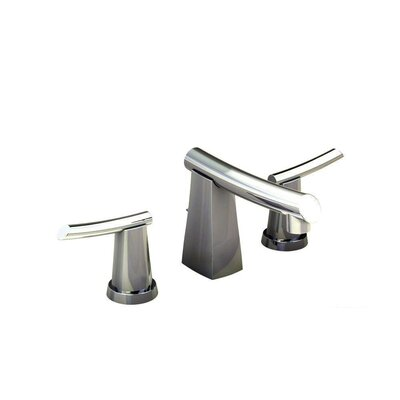 Green Tea Widespread Double Handle Bathroom Faucet with Drain Assembly Finish: Stainless Steel