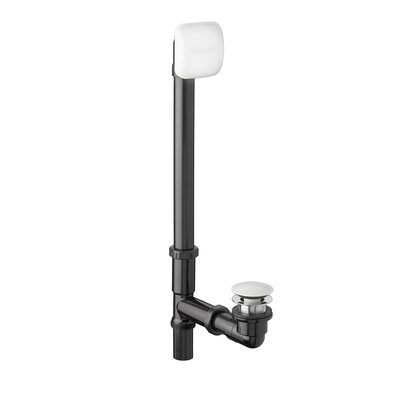 Deep Soak Leg Tub Drain With Overflow Finish: Artic White