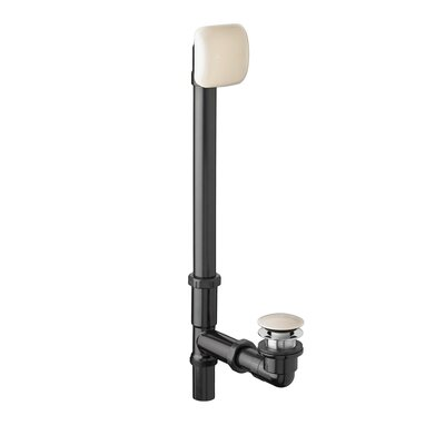 Deep Soak Leg Tub Drain With Overflow Finish: Bone