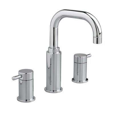 Serin Widespread Double Handle Bathroom Faucet with Drain Assembly Finish: Polished chrome