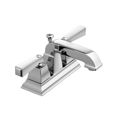 Town Square Centerset Bathroom Faucet with Double Lever Handles Finish: Chrome