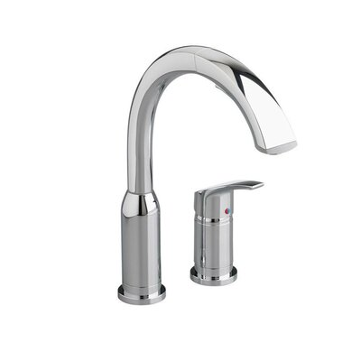 Arch Single Handle Deck Mounted Kitchen Faucet Finish: Chrome