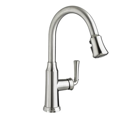 Portsmouth Single handle Deck Mounted Kitchen Faucet Finish: Oil Rubbed Bronze, Flow Rate: 1.5
