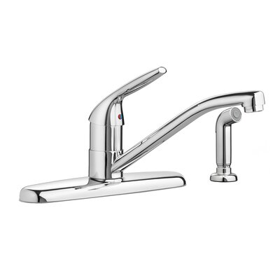 Colony Single Handle Deck Mounted Kitchen Faucet Flow Rate: 2.2, Side Spray: With Spray, Finish: Chrome