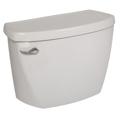 Flushometer 1.6 GPF Toilet Tank Finish: White