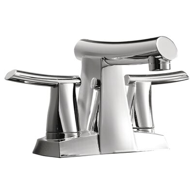 Green Tea Centerset Bathroom Sink Faucet with Double Lever Handles Finish: Polished Chrome