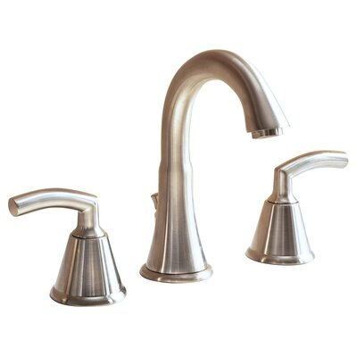 Tropic Widespread Bathroom Faucet with Double Lever Handles Finish: Satin Nickel
