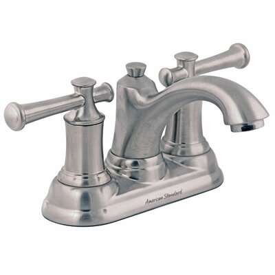 Portsmouth Centerset Bathroom Faucet with Double Lever Handles Finish: Satin Nickel