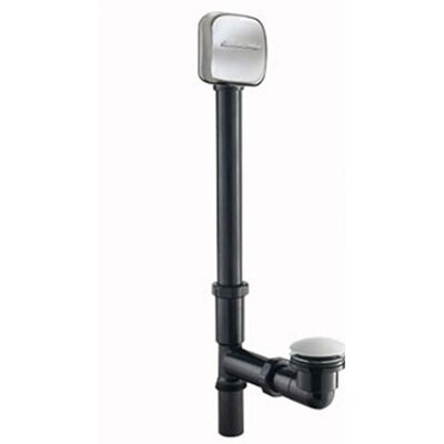 Deep Soak Leg Tub Drain With Overflow Finish: White
