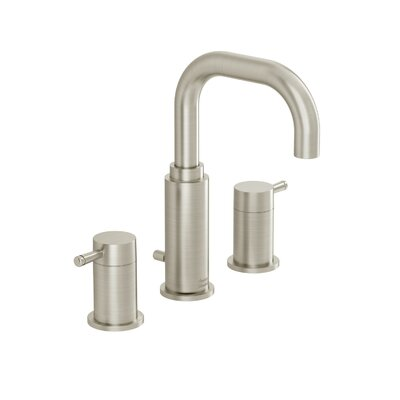 Serin Widespread Bathroom Faucet with Double Lever Handles Finish: Satin nickel