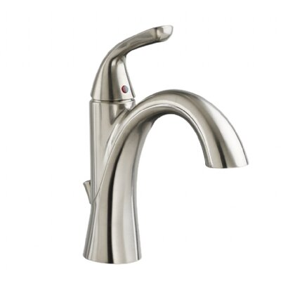 Fluent Monoblock Bathroom Faucet Single Handle Finish: Satin Nickel
