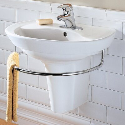 Ravenna 24.25 Pedestal Bathroom Sink with Overflow
