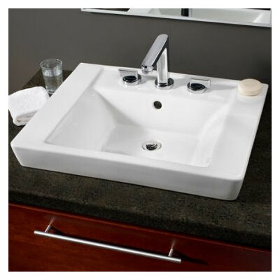 Boulevard Square Vessel Bathroom Sink with Overflow