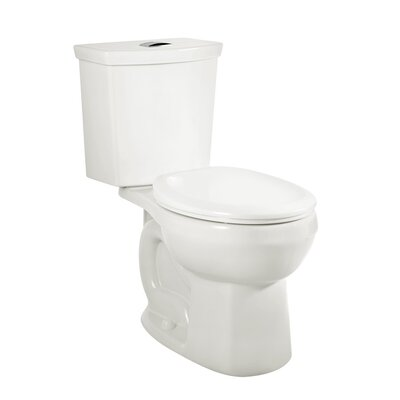H2Option Siphonic Right Height Dual Flush Round Two-Piece Toilet