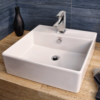 Loft Square Vessel Bathroom Sink with Overflow