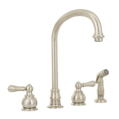 Hampton Double Handle Gooseneck Standard Kitchen Faucet