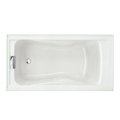 Evolution Left Hand Drain 60 x 32 Drop-In Soaking Bathtub Color: White