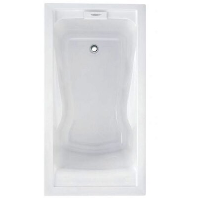 Evolution Left Hand Drain 60 x 32 Drop-In Soaking Bathtub Color: Arctic