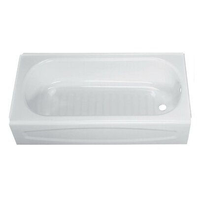Solar New Above Floor Drop in 60 x 30 Soaking Bathtub Color: White