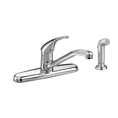 Colony Soft Single Handle Kitchen Faucet with Optional Side spray Finish: Polished Chrome, Optional Accessory: Integral Spray