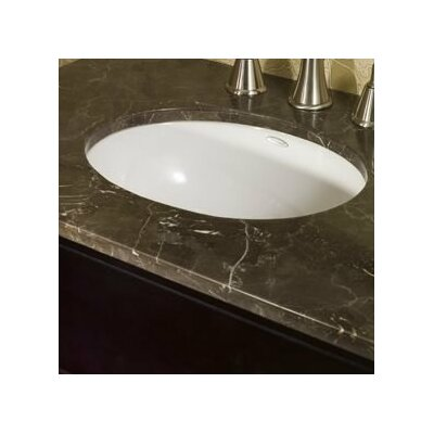 Ovalyn Vitreous China Oval Undermount Bathroom Sink with Overflow