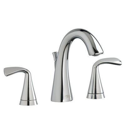 Fluent Widespread Double Handle Bathroom Faucet with Drain Assembly