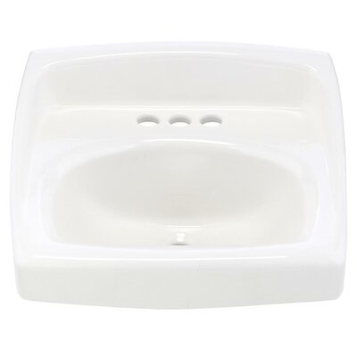 Lucerne Vitreous China 21 Wall Mount Bathroom Sink with Overflow