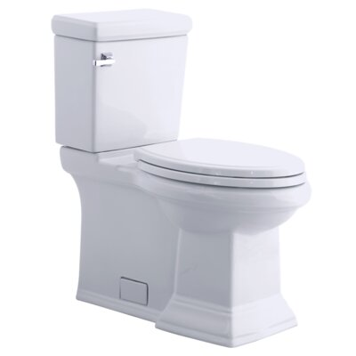 Town Square Right Height Flowise 1.28 GPF Elongated Two-Piece Toilet Finish: Linen