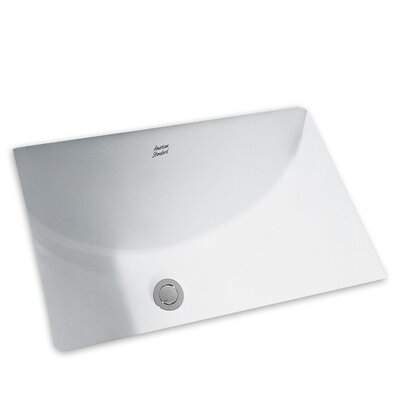 Studio Porcelain Rectangular Undermount Bathroom Sink with Overflow
