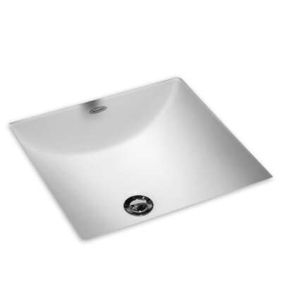 Studio Carre Square Undermount Bathroom Sink with Overflow