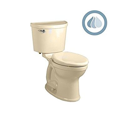 Champion Pro Right Height 1.28 GPF Elongated Two-Piece Toilet Finish: Bone