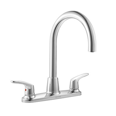 Colony Double Handle Standard Kitchen Faucet Side Spray: With Spray