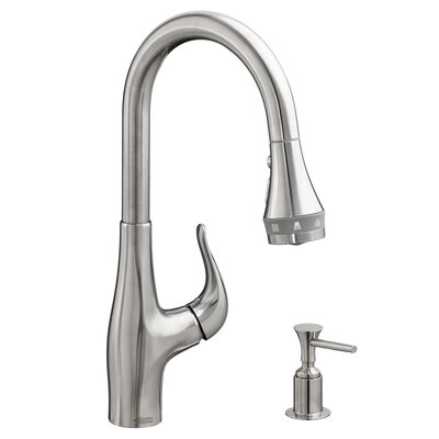 Xavier SelectFlo Single Handle Pull Down Kitchen Faucet Finish: Stainless Steel