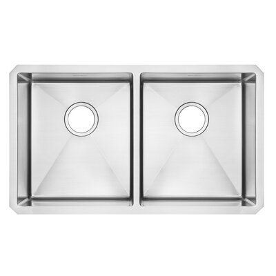 Pekoe 29 x 18 Double Basin Undermount Kitchen Sink with Grid and Drain