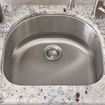 Portsmouth 23 x 21 Single Bowl Undermount Kitchen Sink