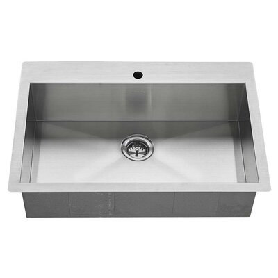 Edgewater 33 x 22 Double Basin Drop-In Kitchen Sink with Grid and Drain