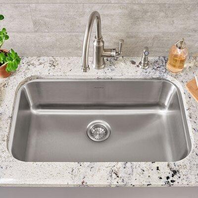 Portsmouth 29.75 x 18 Single Bowl Undermount Kitchen Sink