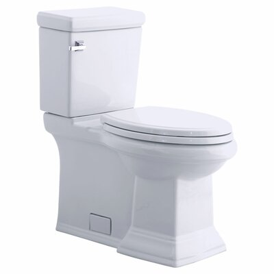 Champion Pro Right Height Rough-In 1.28 GPF Round Two-Piece Toilet Finish: White, Shape: Elongated