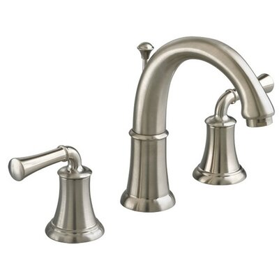 Portsmouth Widespread Bathroom Faucet with Double Lever Handles Finish: Satin Nickel