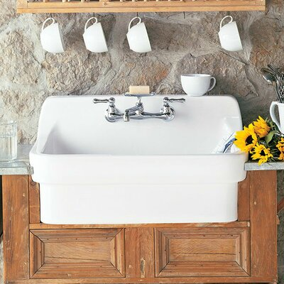 30 x 22 Country Kitchen Sink Finish: White