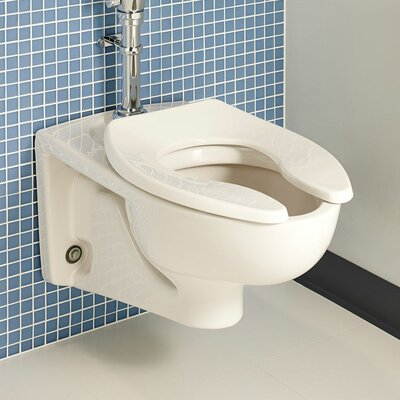 Afwall Flush 1.6 GPF Elongated Toilet Bowl