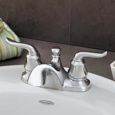 Princeton Centerset Bathroom Faucet with Double Lever Handles Finish: Polished Chrome