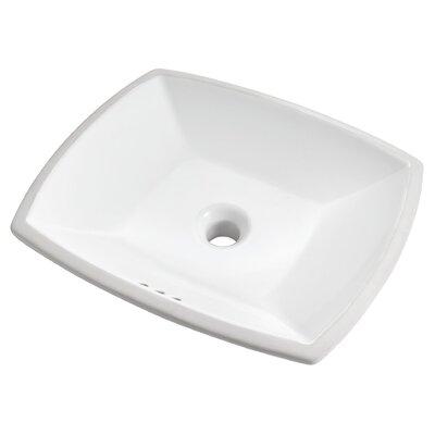 Edgemere Rectangular Undermount Bathroom Sink with Overflow