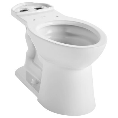 VorMax Dual Flush Elongated Toilet Bowl Finish: White