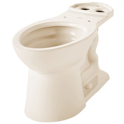 VorMax Dual Flush Elongated Toilet Bowl Finish: Bone