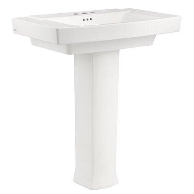Townsend 35 Full Pedestal Bathroom Sink with Overflow