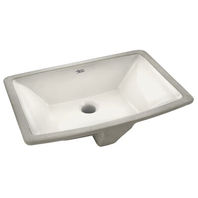 Townsend Rectangular Undermount Bathroom Sink with Overflow Sink Finish: Linen